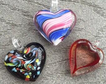 Glass Heart Bead