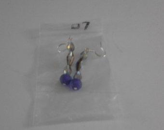 Metallic purple and blue earings d7
