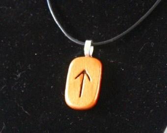Rune Stone Necklace Teiwaz Spiritual Warrior