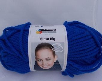 Blue yarn, super chunky, knitting yarn, crochet yarn, Schachenmayr Bravo Big Color, super bulky yarn, cheap yarn, yarn lot, roving yarn