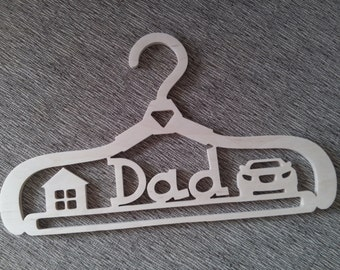 """Сoat hanger with a name """"Dad"""""""