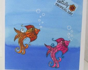 Fish greetings card