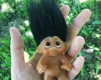 Troll Doll Black Hair Cutie