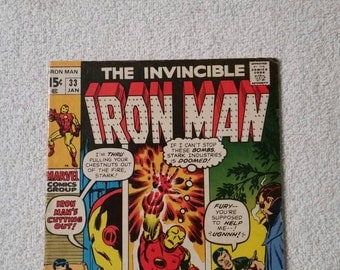 Iron Man #33, 1st Appearance of the Spy-Master (Marvel 1970)