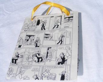 Party Bag, Gift Bag, Broons Comics Recycled, Scottish Gift Bag