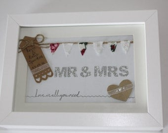 Wedding Mr & Mrs Box Frame