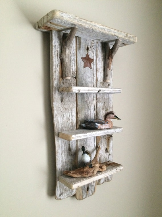 Charming Unique Driftwood Shelves That Will Transform Your