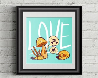Love Hurts - Instant Digital Download - Wall Art - Printable Poster - 8x8 - 11x11