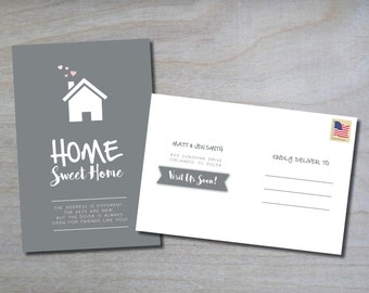 New Address Postcard • Change of Address • New Home • We've Moved • Moving Announcement • Postcard • 4x6 • Printable • Digital
