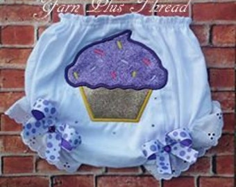 Cupcake Applique Embroidery Design
