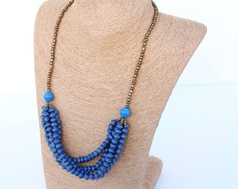 5 Strand Paper Bead Necklace