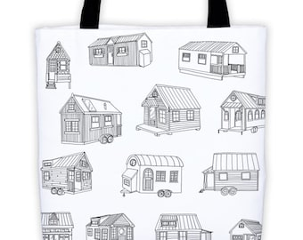Tiny House Sketches Tote Bag