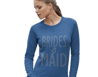 Women's Wedding Brides Maid Rhinestone Sweatshirt
