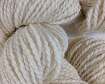 Natural White Handspun Wool yarn