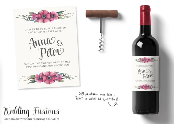 Personalized wine labels personalised wine labels wedding wine il570xn maxwellsz
