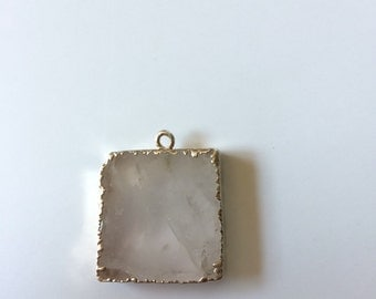 Milky quartz pendant