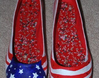 Patriotic American Flag shoes