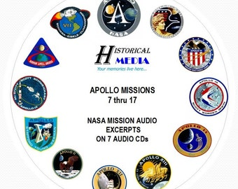NASA SPACE AUDIO - Mission Audio From Apollo Missions 7 thru 17 On 7 Audio CDs