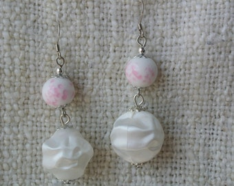 Beaded Pink and White