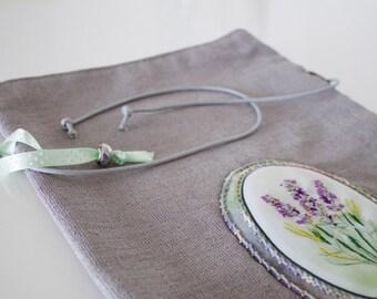 Lavender Medallion/ Bag/ Cosmetics bag