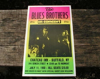 Blues Brothers 1980 Concert Poster Heavy Cardstock Cabin Shop Home Decor 14x22