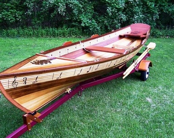 Self designed wooden boat