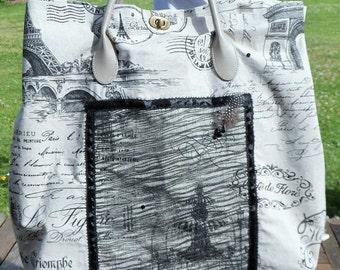 """travel bag printed weekend: """"Postcard from Paris"""""""