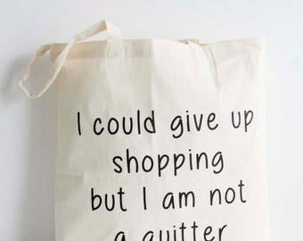 Canvas bag with quote