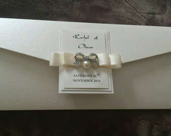 Classic Pocketfold Wedding Invitation. Available in other colours. *Sample Listing Only*