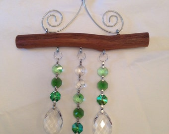3 Strand Suncatcher with Green accents