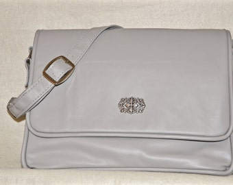 Light Grey Leather Handbag
