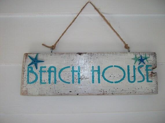 Beach Sign, Rustic Reclaimed Wood