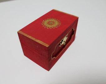 Handmade mini jewelry box