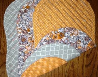 Set of 3- Super Soft Super Absorbent Baby Burp Cloths