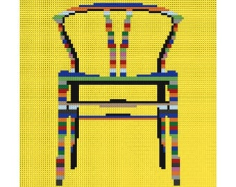 LEGO Art - Wishbone Chair