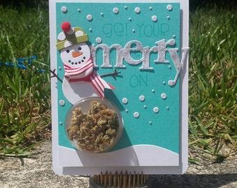Christmas Cannabis Greeting Card #2