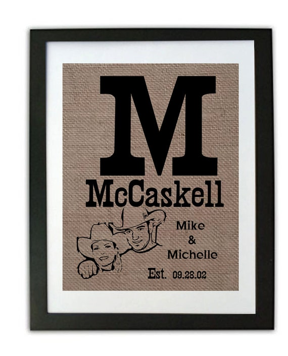 Wedding Gift For 37 Years : ... Gifts Country Wedding Signs Burlap Prints Prints for Wedding 10 years