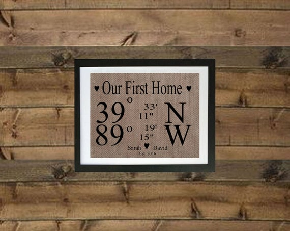 First home sign new home print burlap by momakdesign on etsy for New home sign