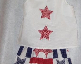 Blue and White Fourth of July Outfit