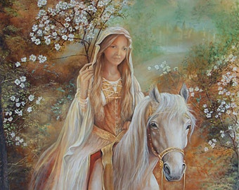 Guinevere Double Mounted Print
