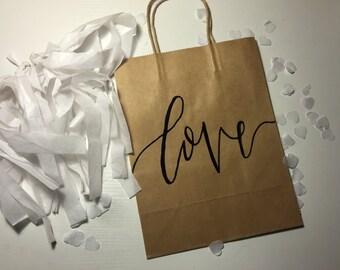 Gift bag| Embossed| Wedding