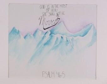 Mountains 9x12 Print