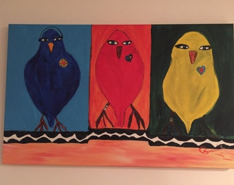 """The Family - Acrylic Painting 30""""x 48"""""""