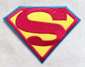 Superman Super Hero Logo Iron On Patch