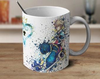 Roxas and Sora, Kingdom Hearts, Kingdom Hearts Mug, Kingdom Hearts Coffee Mug, Kingdom Hearts Watercolor Mug, Coffee Mug, Color Changing Mug