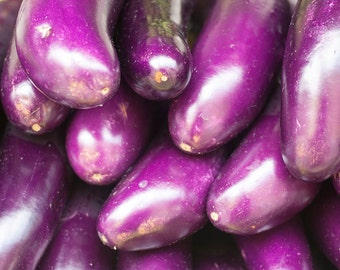 Kitchen Decor Photo Print Or Canvas Vegetable Wall Art Eggplant Photography Print Purple