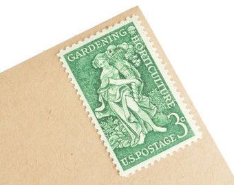 25 Gardening Stamps - 3c - Vintage 1958 - Unused Postage - Quantity of 25