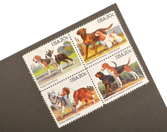 24 Dog Stamps - 20c - Unique vintage postage stamps - 1984 - Unused - Quantity of 24