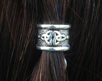Kissing Triscales Hair Bead Kit silver Celtic hair bead goth BOHO gypsy viking