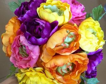 Wedding bouquet,multi ranunculus bouquet